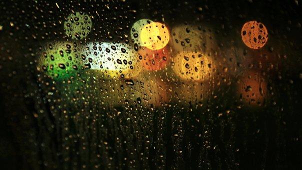 Still, Windows, Glass, Rain, Raindrops, Water, Droplets