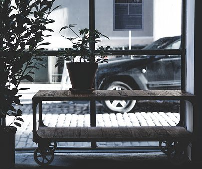 Still, Items, Things, Potted, Plants, Wheels, Shelves