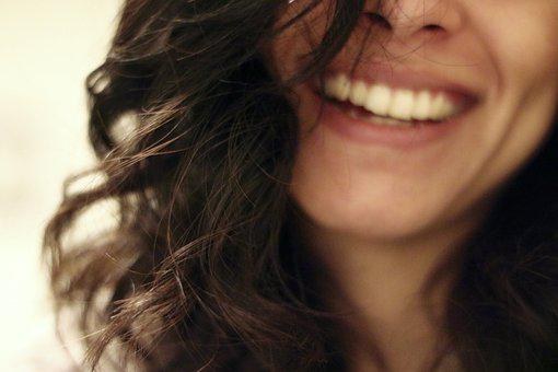 Smile, Smiling, Laughing, Happy, Girl, Woman, Brunette