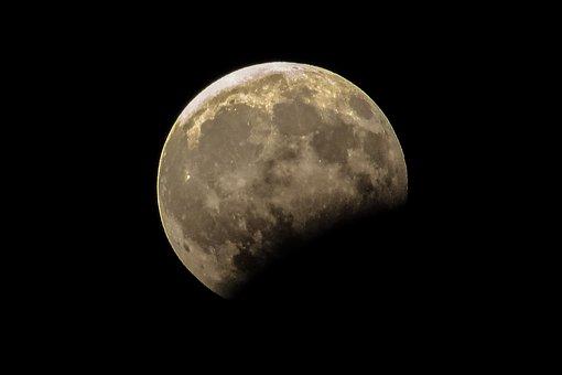 Moon, Eclipse, Astronomy, Space, Sky, Satellite, Night