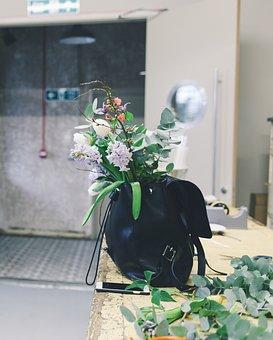 Still, Items, Things, Flowers, Plants, Leaves, Bag