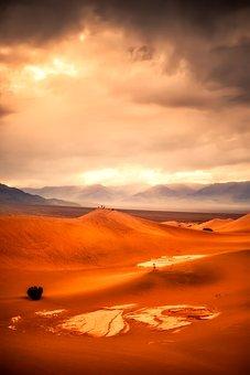 Death Valley, California, Desert, Valley, Mountains
