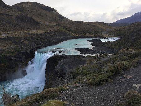 Waterfall, Water, Chile, Patagonia