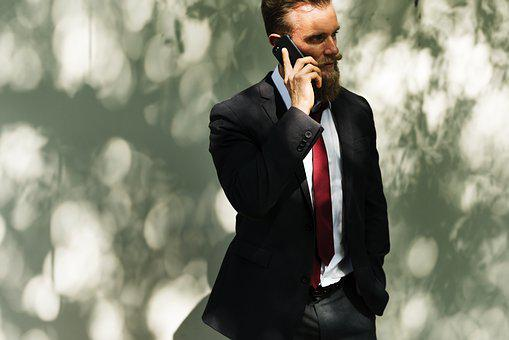 Beard, Business, Calling, Communication, Connection