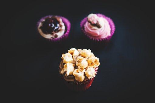 Food, Eat, Gourmet, Cupcakes, Jam, Berries, Popcorn