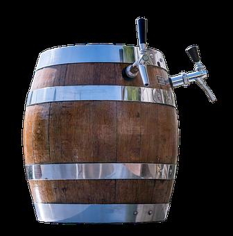 Barrel, Beer, Dispensing Line, Beer Keg, Wood, Tap