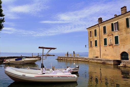 Villa, Lake, Garda, Punta San Vigilio, Boat, Porto