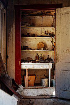 Inside, Home, Ghost Town, Berlin, Nevada, America, Usa