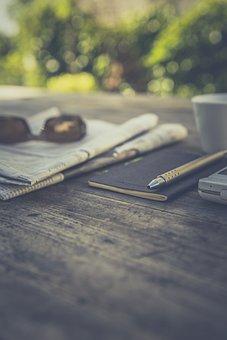 Still, Items, Things, Journal, Planner, Pen, Morning