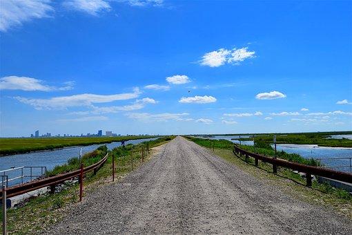 Road, Distance, Horizon, Landscape, Travel, Nature