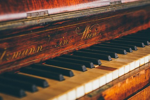 Piano, Keyboard, Letters, Song