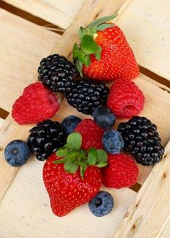 Summer Fruits, Strawberry, Raspberry, Blackberry