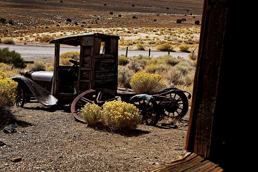 Old Car, Stainless, Ghost Town, Berlin, Nevada, America