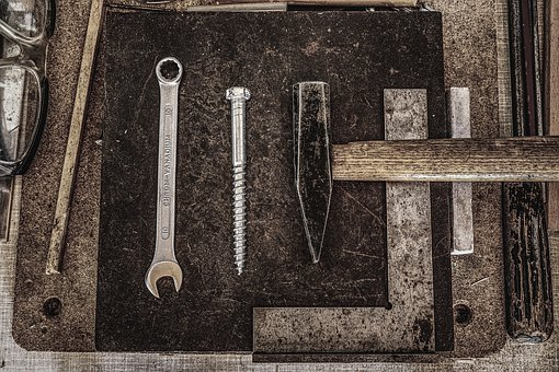 Workshop, Rustic, Hammer, Wrench, Tool, Metal, Files
