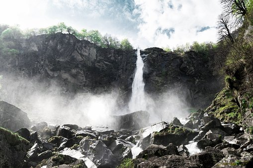 Nature, Landscape, Water, Waterfalls, Rocks, Drop, Edge