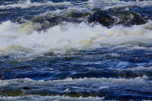 River, Water, Waves, Water Courses, Blue