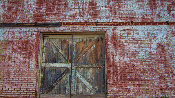 Weathered, Door, Old, Entrance, Building, Wall, Aged