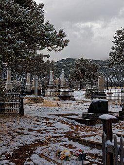 Age, Cemetery, Austin, Nevada, Desert, Usa, America