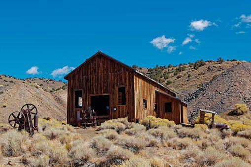 Ghost Town, Berlin, Nevada, America, Usa, Travel, Leave