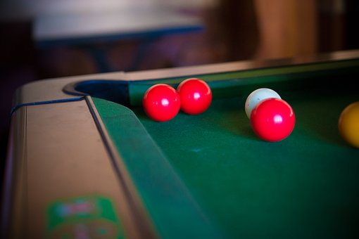 Billiards, Bar, Green, Bowls, Play, Red, Yellow