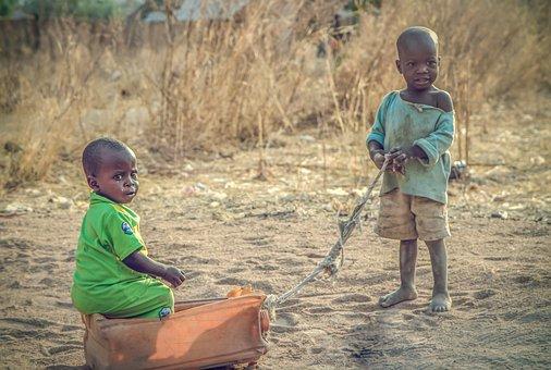 Africa, Nigeria, Children, Street, Village, Child