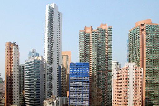 Hong Kong, Skyscrapers, Houses, Condos, Condominimum