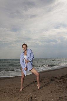 Sexy, Women's, Model, Beach, Young Model, Fashion