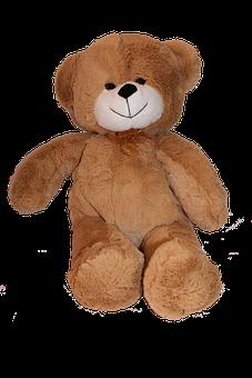 Bear, Teddy, Png, Soft Toy, Cute, Fur, Childhood