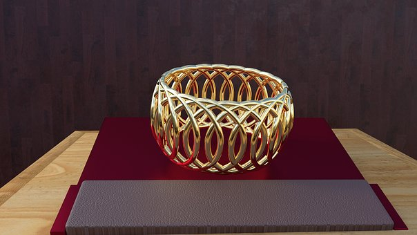 Bangle, Gold, Jewellery, Design, Old, Art