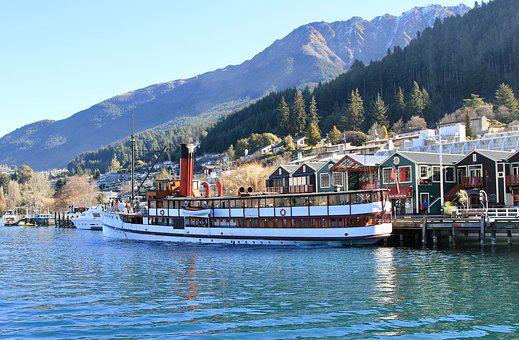 Boat, Lake, Mountain, Leisure, Landscape, Recreation