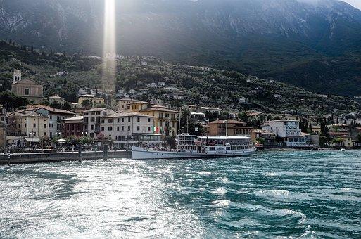 Malcesine, Italy, Garda, Landscape, Lake, At Malcesine