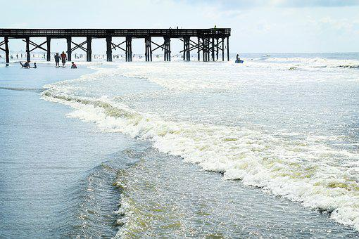 Beach, Ocean, Surf, Wave, Waves, Surfing, Pier, Dock