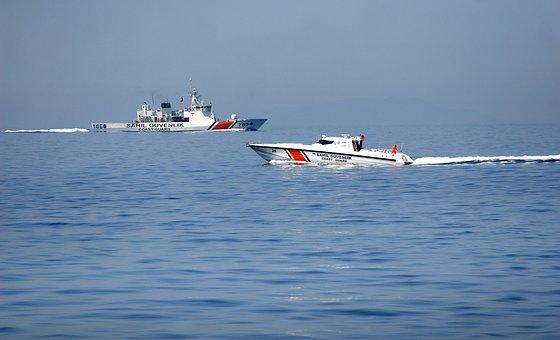 Marine, Ship, Beach, Search, Recovery, Coast Guard, Sky