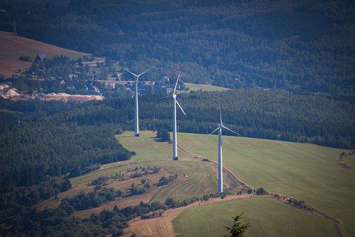 Wind Power Plant, Background, Landscape, Sky, Energy