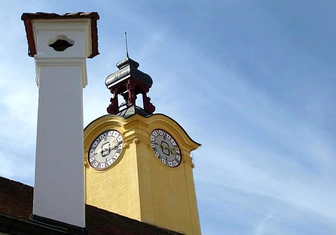 Tower, Clock, Building, Sky, Watches