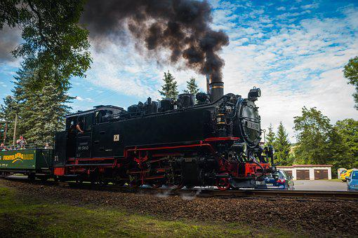 Steam Locomotive, Machine, Train, Fichtelbergbahn