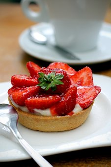 Strawberry Tart, Coffee, Strawberry, Dessert, Fruit