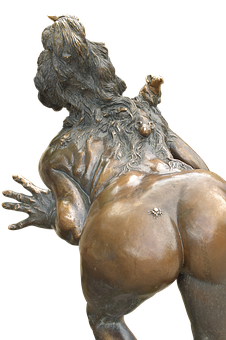 The Witch, Butt, Po, Ass, Bronze, Figure, From The Rear