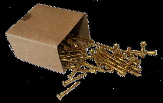 Box, Screws, Png, Brass, Fix, Metal, Thread, Head
