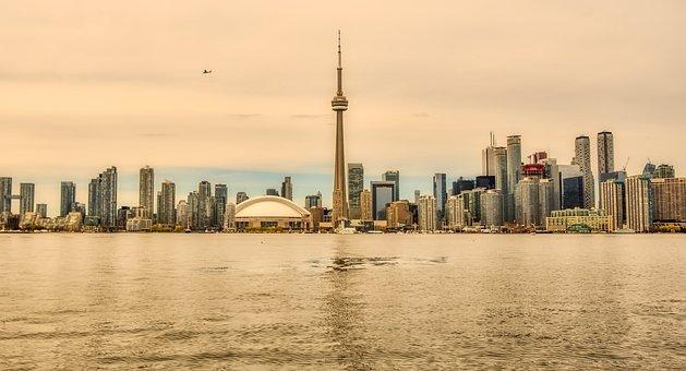 Toronto, Canada, Tv Tower, Landmark, City, Urban