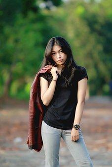 Model, Women, Potrait, Out Door, Asia