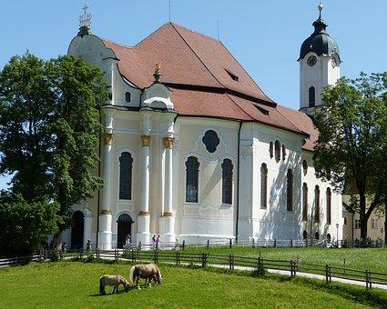 Pilgrimage Church Of Wies, Steingaden, Allgäu