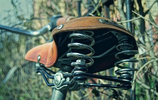 Saddle, Bicycle Saddle, Leather Saddle, Suspension