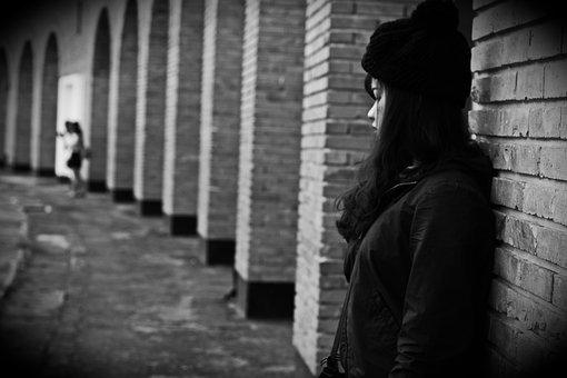 Girl, Alone, Help Me, Black And White