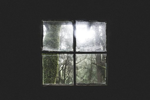 House, Home, Cabin, Old, Decrepit, Window, Panes