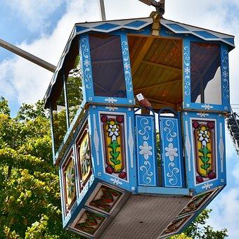 Ferris Wheel, Gondolas, Ride, Cabins, Folk Festival