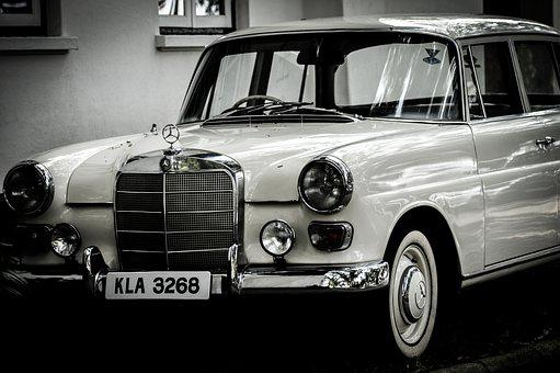 Mercedes, Vintage, Car, India, Love, Old, Beauty