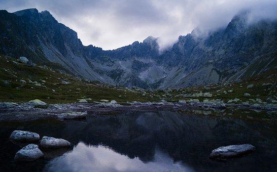 Nature, Landscape, Mountains, Coast, Lake, Water, Blue