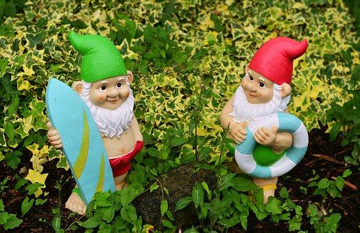 Garden Gnomes, Garden, Figures, Dwarf, Funny, Imp