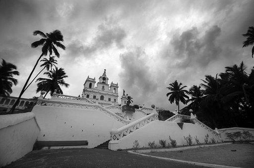 Church, Goa, Panjim, Panaji, India, Architecture, Asia